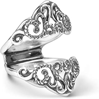 product image for Carolyn Pollack Sterling Silver Filigree Guard Ring Size 5 to 10