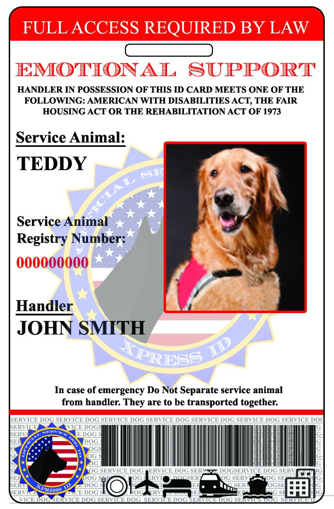 XpressID Holographic Emotional Support Dog & Handler ID Card   Includes Registration to National Dog Registry by Xpress ID (Image #3)