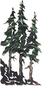 3D Metal Wall Art - Pine Tree Nature Wall Art - Botanical Art Handmade in The USA for Use Indoors or Outdoors