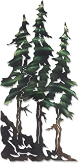 product image for 3D Metal Wall Art - Pine Tree Nature Wall Art - Botanical Art Handmade in The USA for Use Indoors or Outdoors