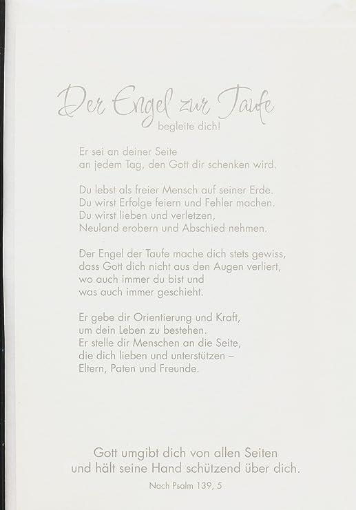 Besondere Glückwunschkarte Zur Taufe Dein Engel Zur Taufe Mit Spruch Und Feinem Schutzengel Holzanhänger Aus Nussbaum