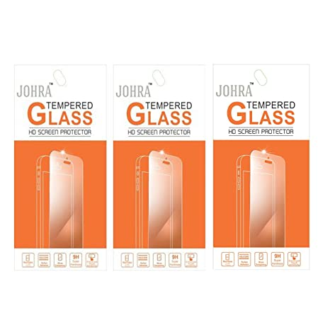 Johra Pack of 3 Tempered Glass Screen Scratch Guard Protector for Micromax Canvas Nitro 3 E352