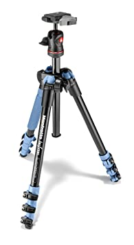 Manfrotto MKBFRA4LBH BeFree Compact Aluminum Travel Tripod Blue <span at amazon