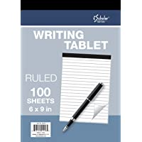 iScholar Writing Tablet, Ruled White, 100 Sheets, 6 X 9-Inch - 69101