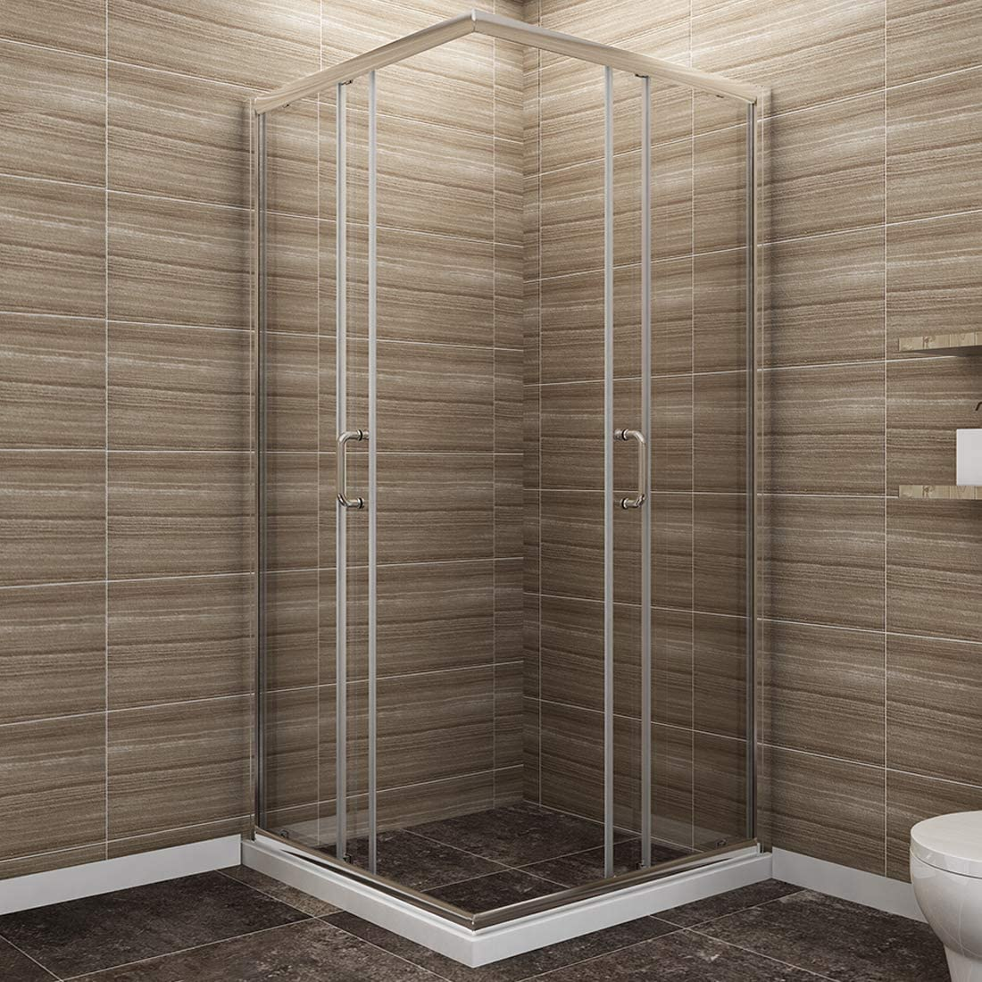 Corner Shower.Sunny Shower Corner Shower Enclosure 1 4 In Clear Glass Double