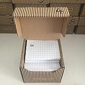 Papiertiger Karteik/ästen A8 Karton Streifendesign blauwei/ß faltbar passend f/ür bis zu 300