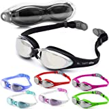 Swim Elite Pro Swimming Goggles with UV and Anti Fog Protection - Swim Goggle For Adults, Juniors, Kids - Indoor and Outdoor including Triathlon/Lido Training - Black, Blue, Pink, Red or Aqua