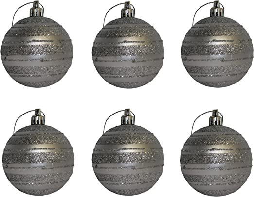 GUIRMA Pack de 6 Bolas de Navidad Plateadas 6 cm: Amazon.es: Hogar