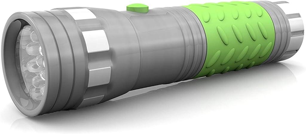 14 LED Glow-in-the-Dark Aluminum FLASHLIGHT uses 3AAA battery Lot Wholesale