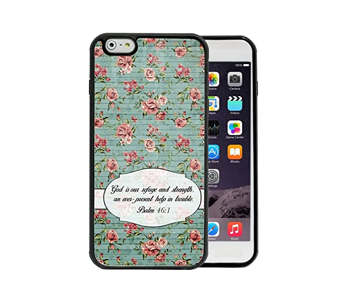 Psalm 461 Religious Bible Verse Pink Flower Wallpaper Blue Color Wood Pattern Apple IPhone
