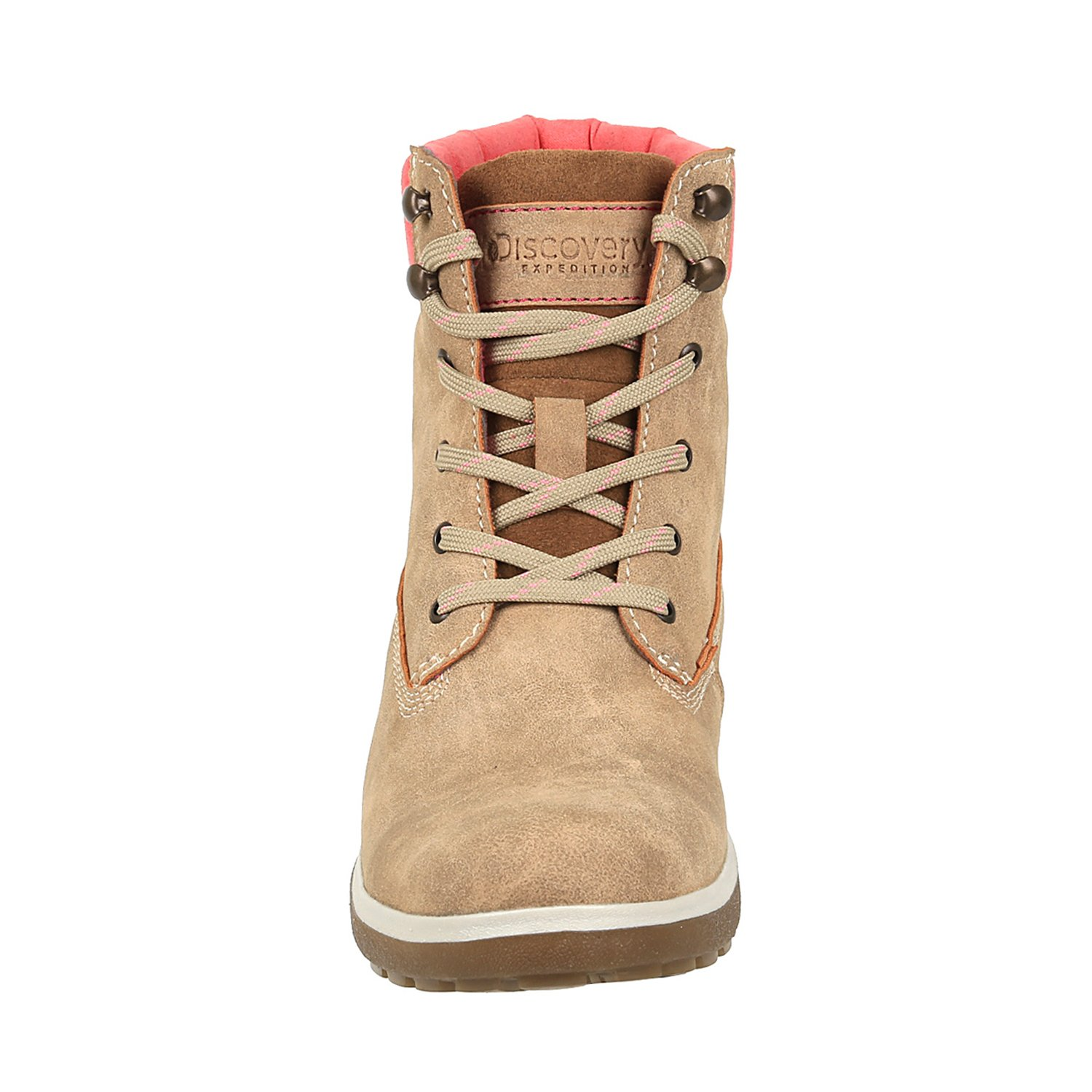Discovery Expedition Womens Adventure High Top Lace Up Hiking Boot Sand Size 10 by Discovery Expedition (Image #3)