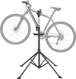 Bike Repair Stand -Shop Home Bicycle Mechanic Maintenance Rack, Foldable Mountain Bike Repair Rack Stand Adjustable Bicycle Maintenance Rack Workstand for Road & Mountain Bikes