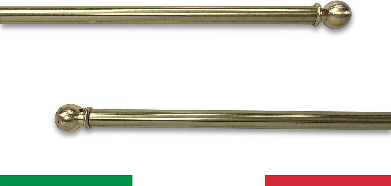 Coppia Bastoni OTTONE tende stecche bacchette x tenda 50 60