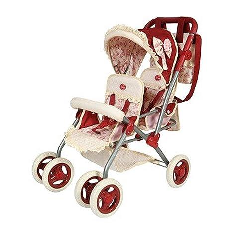Decuevas Toys - Muñeca Martina, Silla para Gemelos Plegable, con Bolso, 40x70x72 cm
