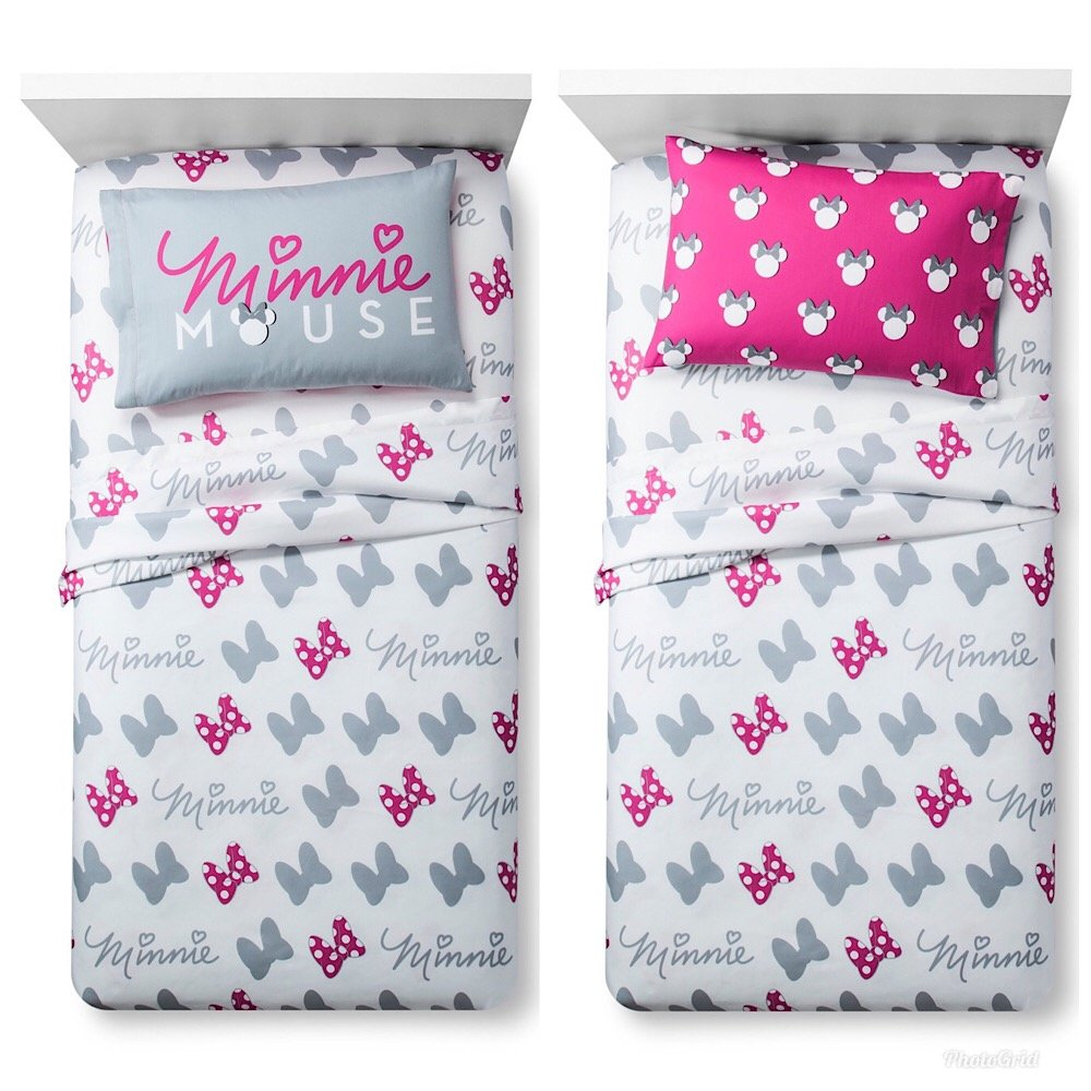 Disney Minnie Mouse Girls Twin Bed Sheet Set