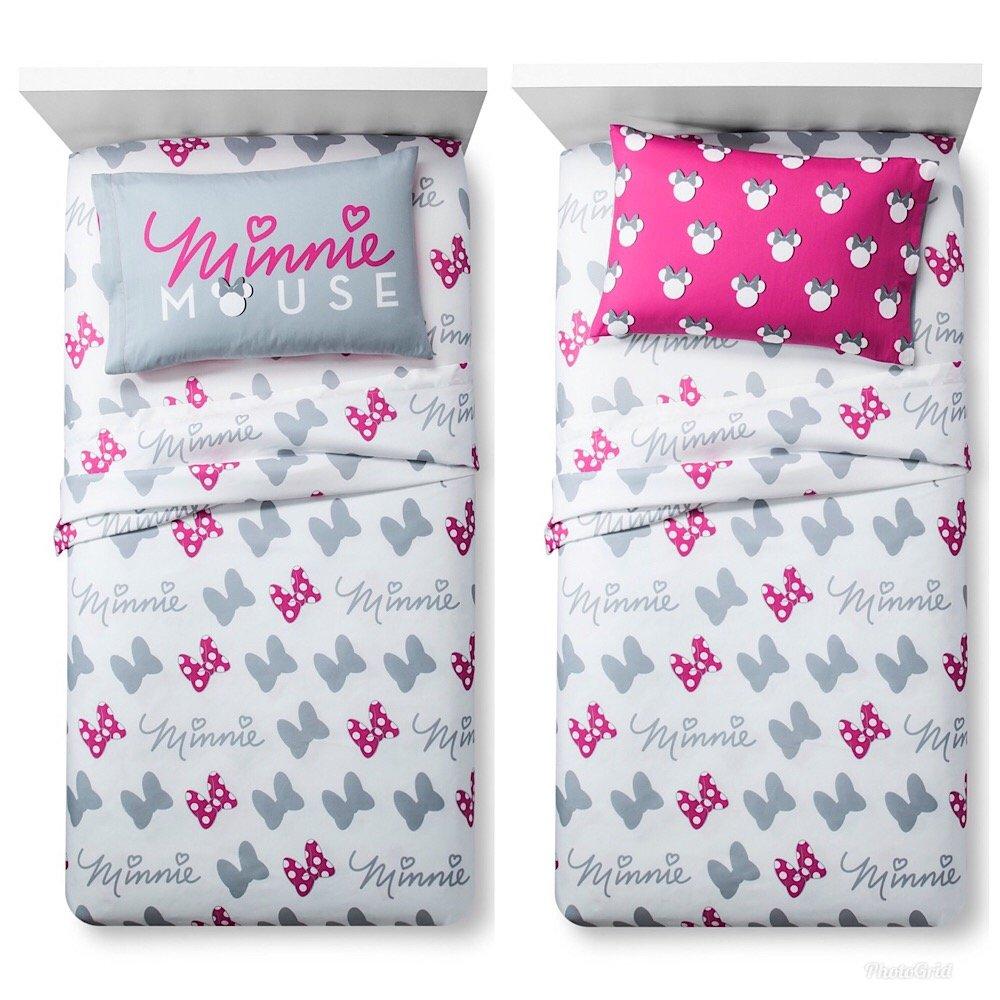 Disney Minnie Mouse Girls Twin Bed Sheet Set