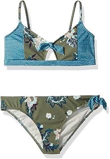 2ef61109913b9 Amazon.com  Roxy Big Girls  Island Trip Crop Top Swimsuit Set