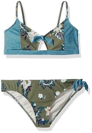 4d27334ec610 Amazon.com: Roxy Big Girls' Surf The Desert Athletic Swimsuit Set: Clothing