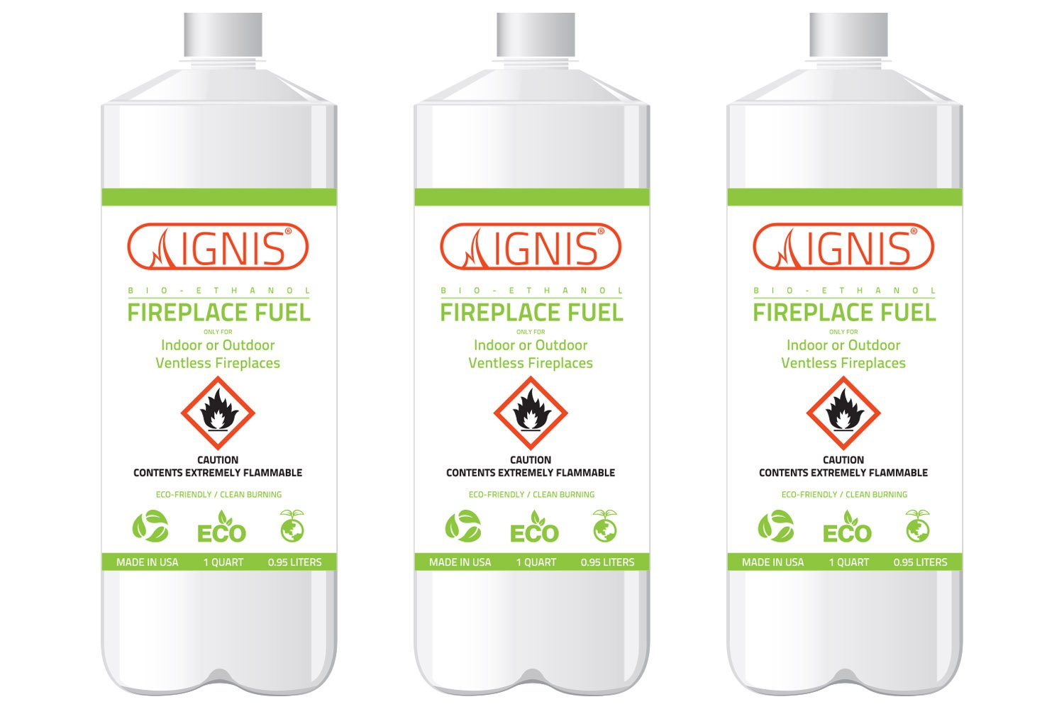 Ignis Bio Ethanol Fireplace Fuel - 3 Pack by Ignis Products
