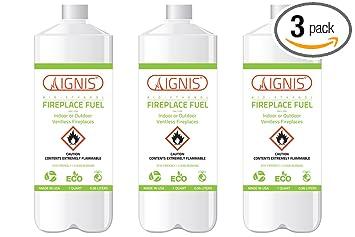 Ignis Bio Ethanol Fireplace Fuel   3 Pack