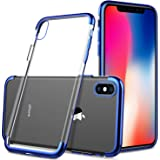 ELTD iphone Xs Max ケース iphone Xs Maxカバー 2018新発売6.5インチiphoneケース 高品質 衝撃吸収 落下防止 指紋防止 保護 365日品質保証 ブルー