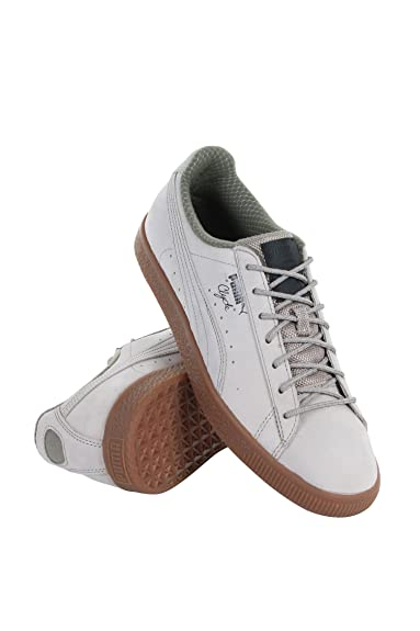 a34f34bc8fef PUMA Clyde NBK Mens Gray Leather Lace Up Sneakers Shoes 12  Amazon.co.uk   Shoes   Bags