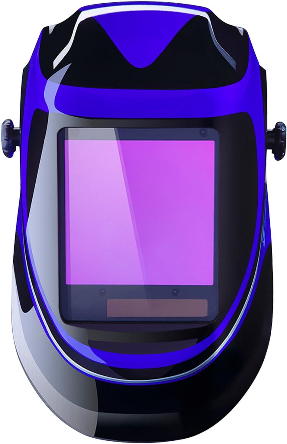 Top solar powered welding helmet: Deko DNS-800S Super Viewing