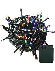 100-500 LED Batterie Lichterkette Kette Batteriebetrieben 8 Modi und Timer Leuchte Beleuchtung Grünes Kabel für Weihnachtsbaum, Garten, Party Innen und Außen Dekoration