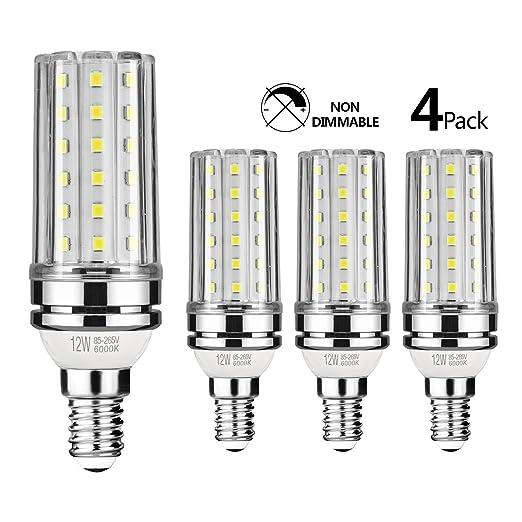gezee LED E14 12 W maíz bombillas 3000 K/6000 K luz blanca cálida/blanco 100 ...