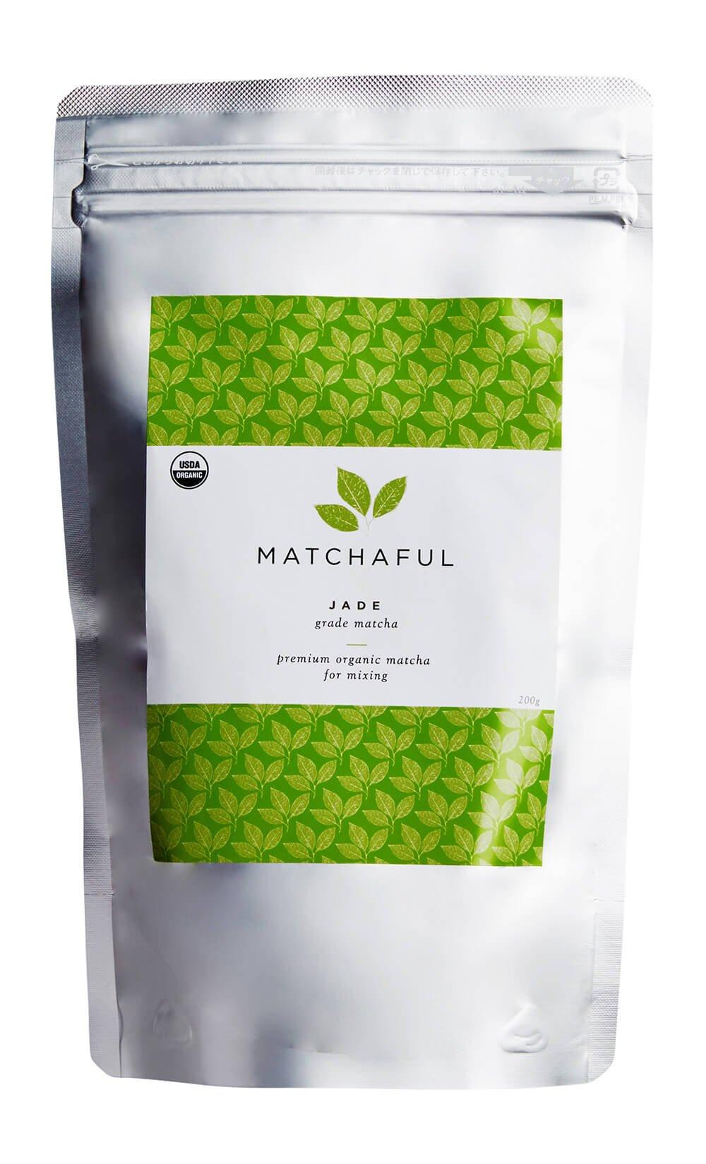MATCHAFUL Jade Premium USDA Organic Culinary Matcha, 200 Gram