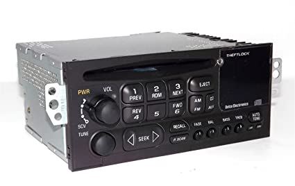 amazon com gm delco 96 02 chevy car s10 radio cd player 3 5mm aux rh amazon com