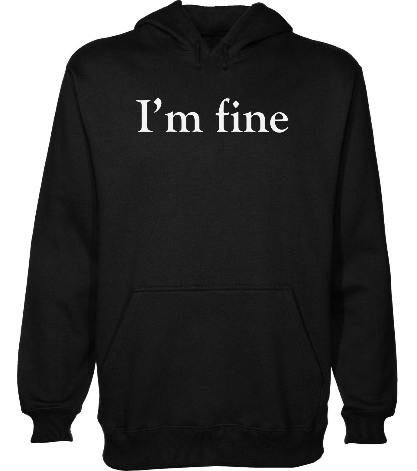 idcommerce I'm Fine. Minimal Mood Men's Hoodie Pullover Medium