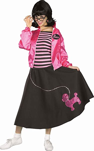 0708986e1870 Amazon.com: Forum Nifty Fifties Costume Jacket Skirt and Blouse, Purple,  One Size: Clothing