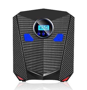 YLG Compresor De Aire, Inflador Portátil con Pantalla Digital, Luz LED, 12V,Cable De 3M,para Neumáticos, Objetos Inflables: Amazon.es: Deportes y aire libre