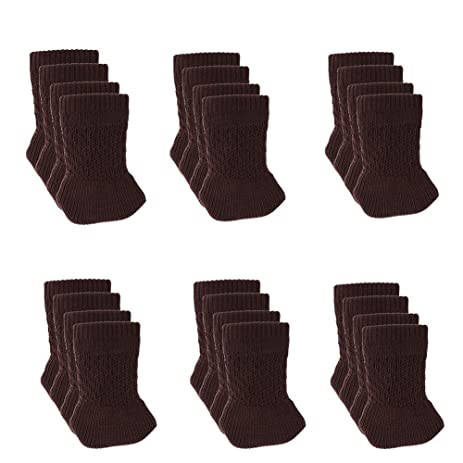24 PCS Chair Leg Socks Knitted Furniture Socks   Chair,Floor Protectors For  Avoid Scratches