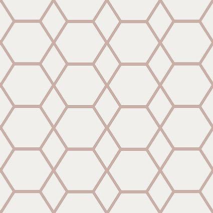 Casca Geometric Wallpaper Rose Gold Muriva 147503 Amazon Co