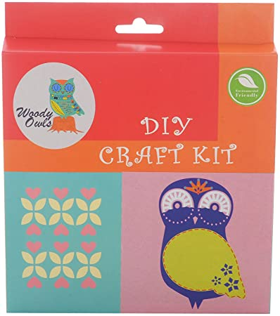 Buy Woody Owls Owl Diy Craft Kit Red Online At Low Prices In India