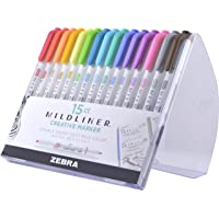 Zebra Pen Mildliner, Double Ended Highlighter, Broad and Fine Tips Assorted Colors 15 Assorted Colors