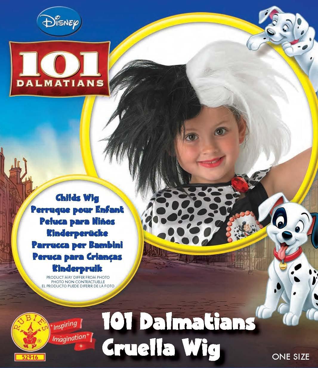 Rubies - Peluca infantil oficial Disney de Cruella de 101 Dálmatas: Amazon.es: Juguetes y juegos
