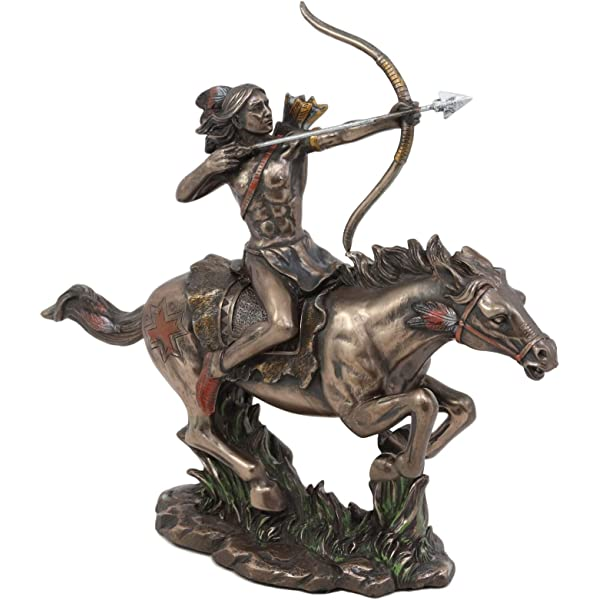 Treasure of Nature Indian Chief on Horse Statue