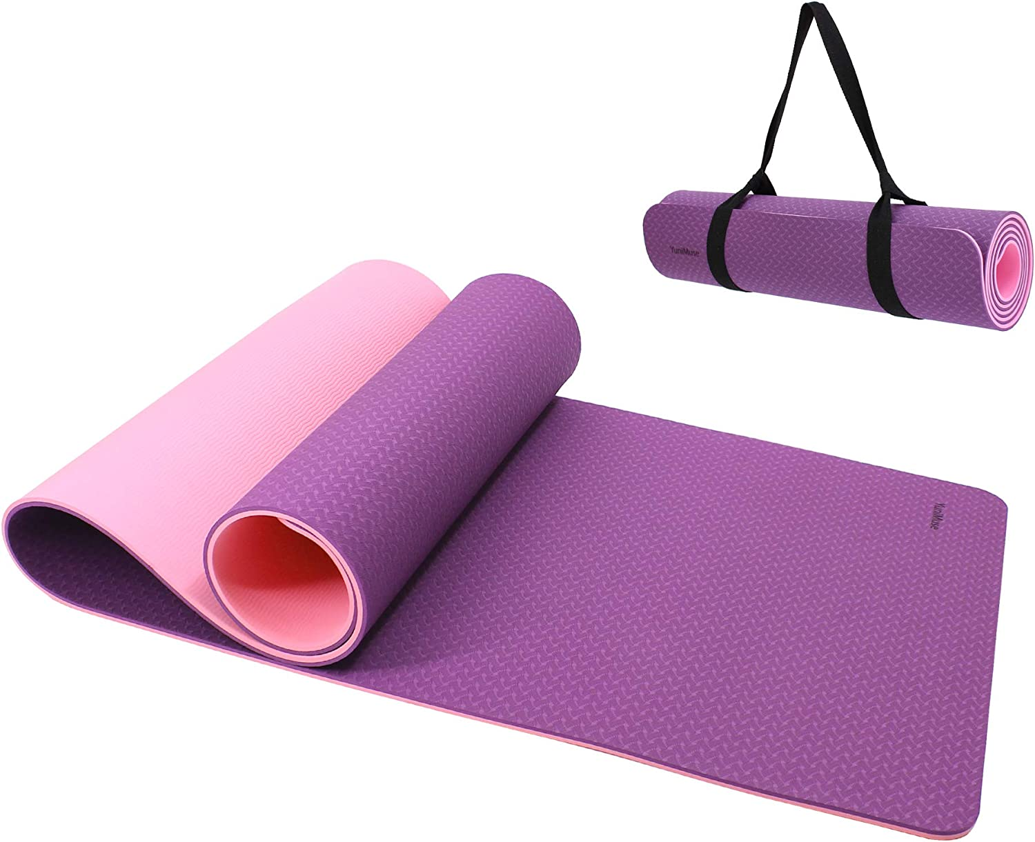 Non Slip Yoga Mats with Carrying Strap