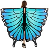 HITOP Women Halloween Party Butterfly Wings Shawl for Girls Adult Festival Costume Wear Dress Up Cape