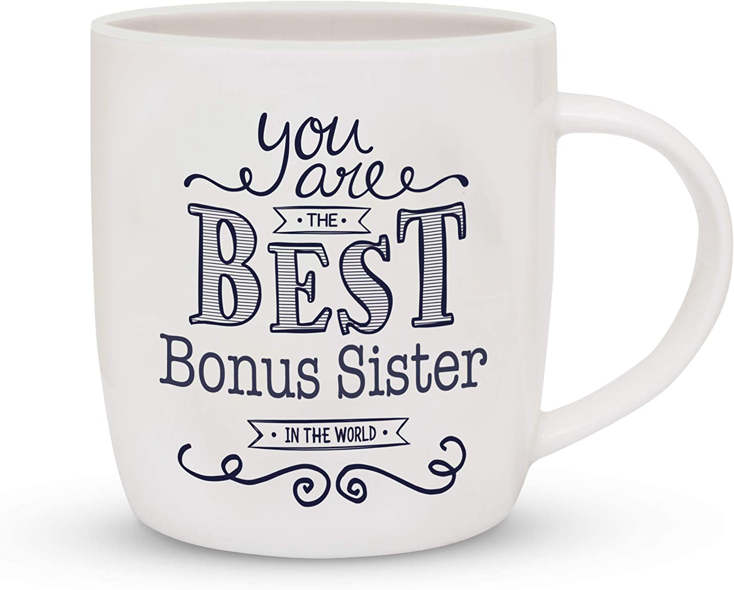 Triple Gifffted Bonus Sister - Best Sister In Law Ever Coffee Mug, Funny Gifts For Birthday and Sisters Day, Best Friend Gifts for Women, Rakhi Mugs, Valentines, Christmas Cup