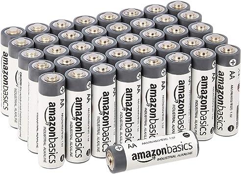 Todo para el streamer: AmazonBasics - Pilas alcalinas AA de uso industrial (40 unidades)