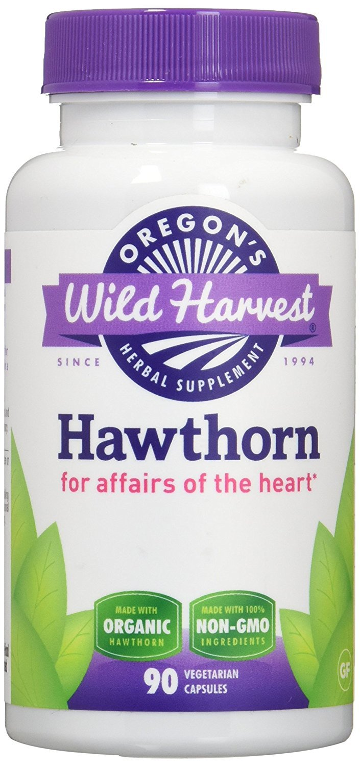 Oregon's Wild Harvest Hawthorn Organic Herbal Supplement, 90 Count (Pack of 3)
