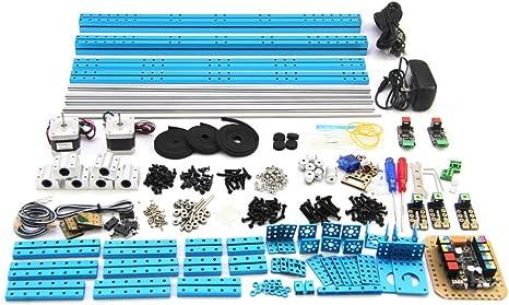 Amazon.es: Makeblock - Bricolaje DIY UNO Drawing Robot Dibujo Educativo XY Plotter V2.0 Kit Grabado por Láser para Arduino Aprendizaje, 90014