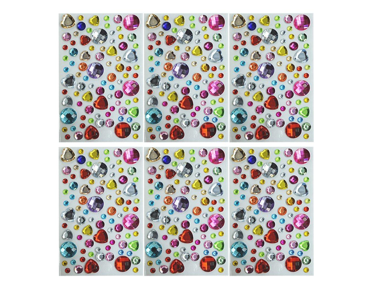 Multi-Color Bling Craft Jewelrys Crys Amariver Self-Adhesive Rhinestone Sticker