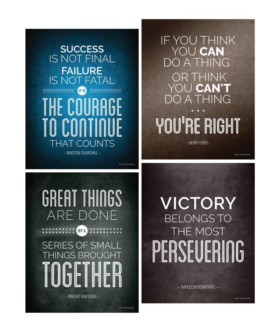 Amazon Historical Quote Motivational Posters Success Wall Art