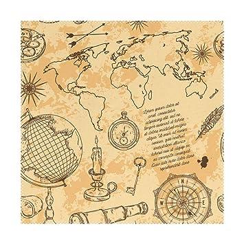 Amazon com: My Little Nest Square Placemats World Map