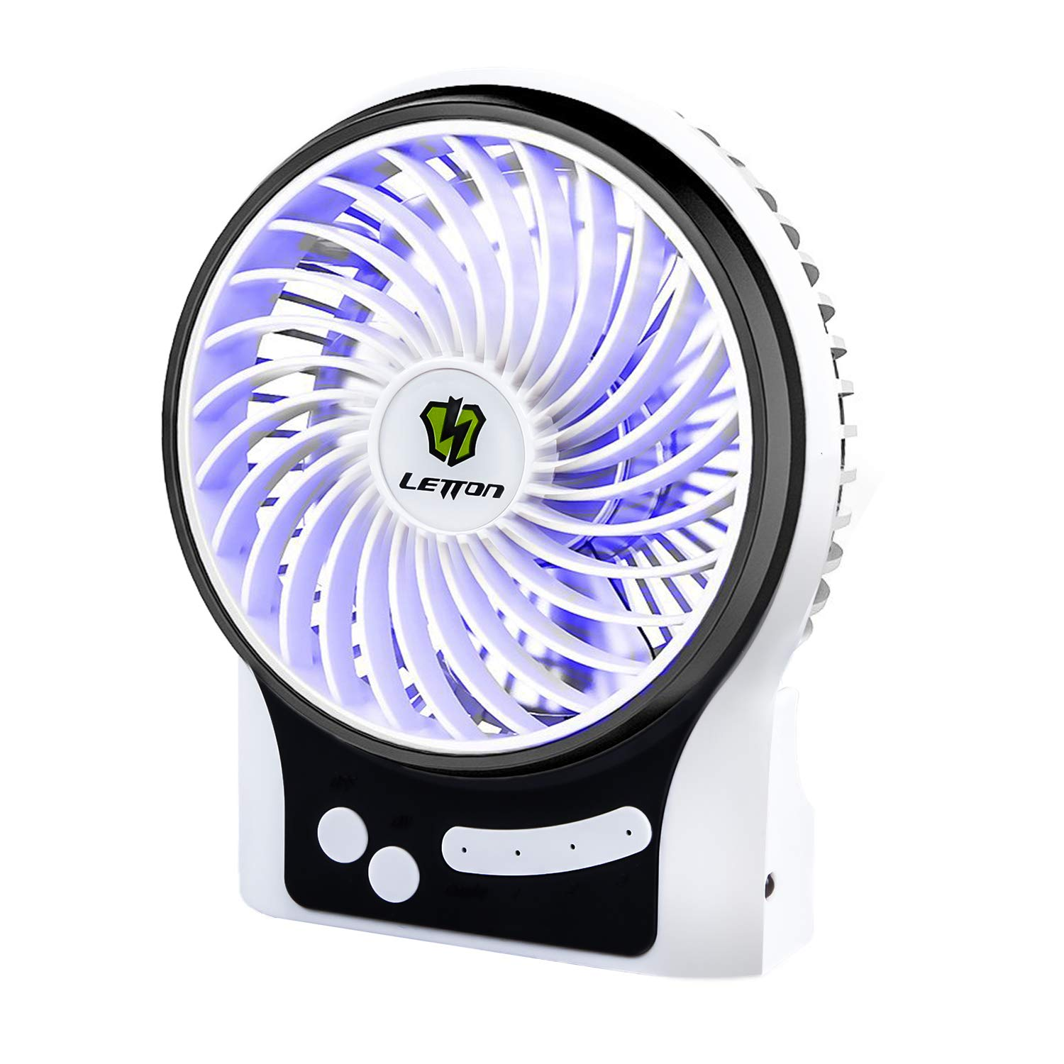 Blue Portable Quiet Handheld Personal USB Fan Mute Mini Fan Creative Style Fan for Travelling Camping Outdoor Activities